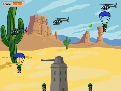 Scratch Jeu Paratroopers
