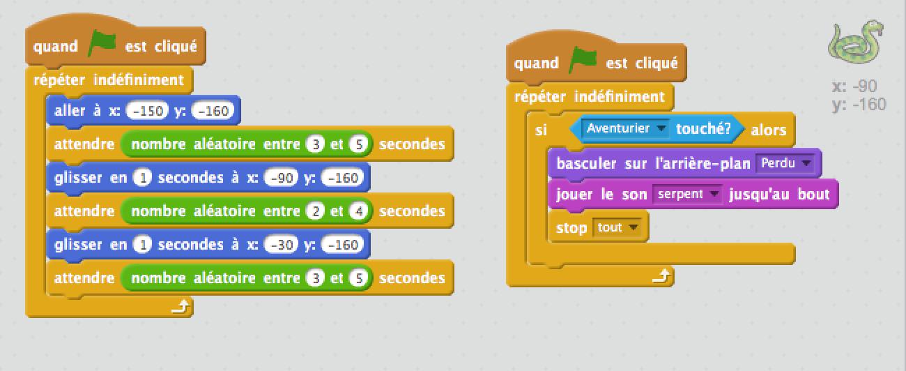 Stage Coding Scratch Jeu Aventure