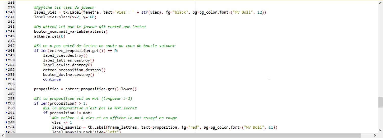 Stage Programmation Python Jeu du pendu