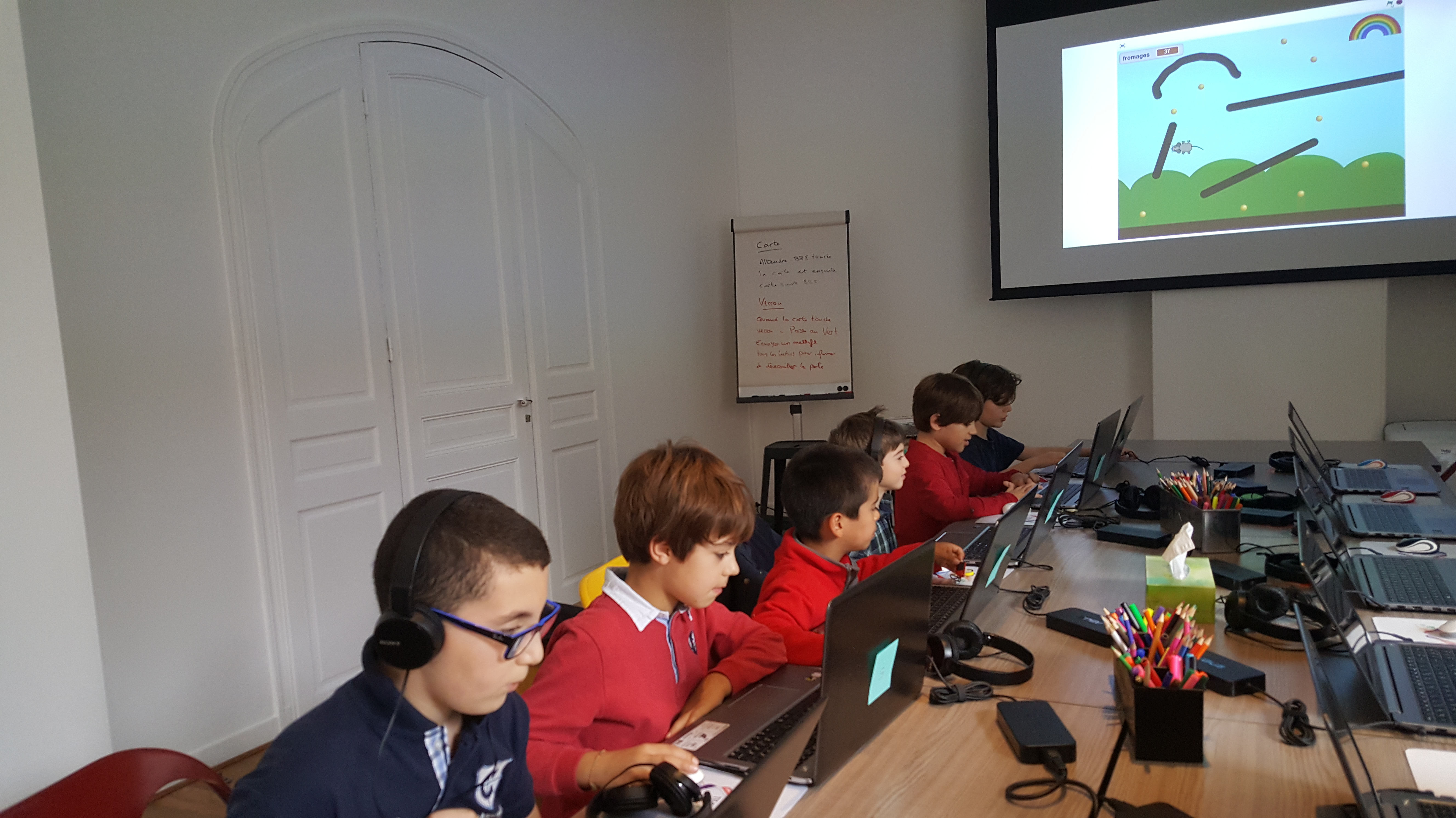 Ateliers hebdos 7-9 ans - Scratch mouse maze