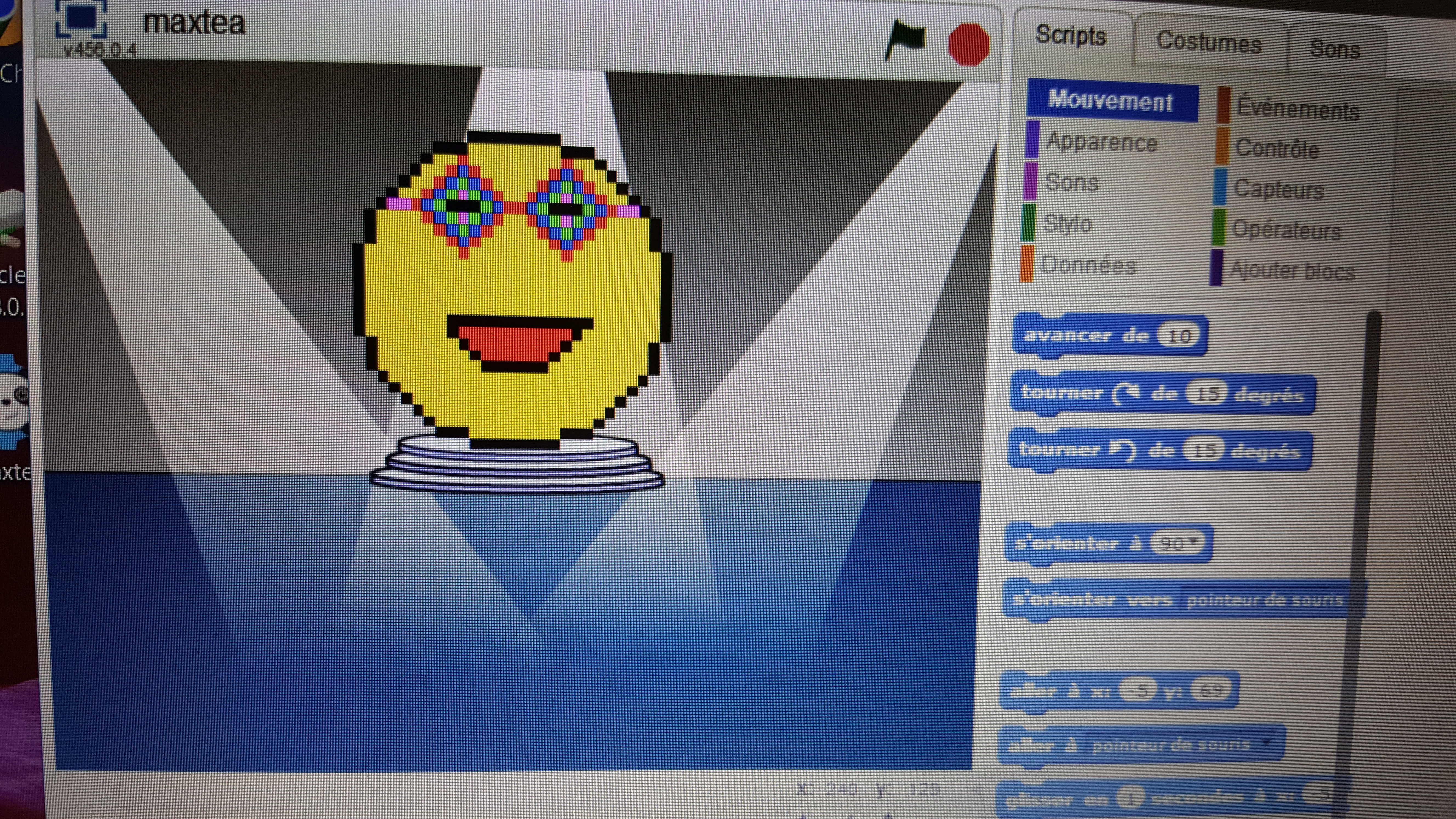 Ateliers hebdos 7-9 ans - Smiley pixel art