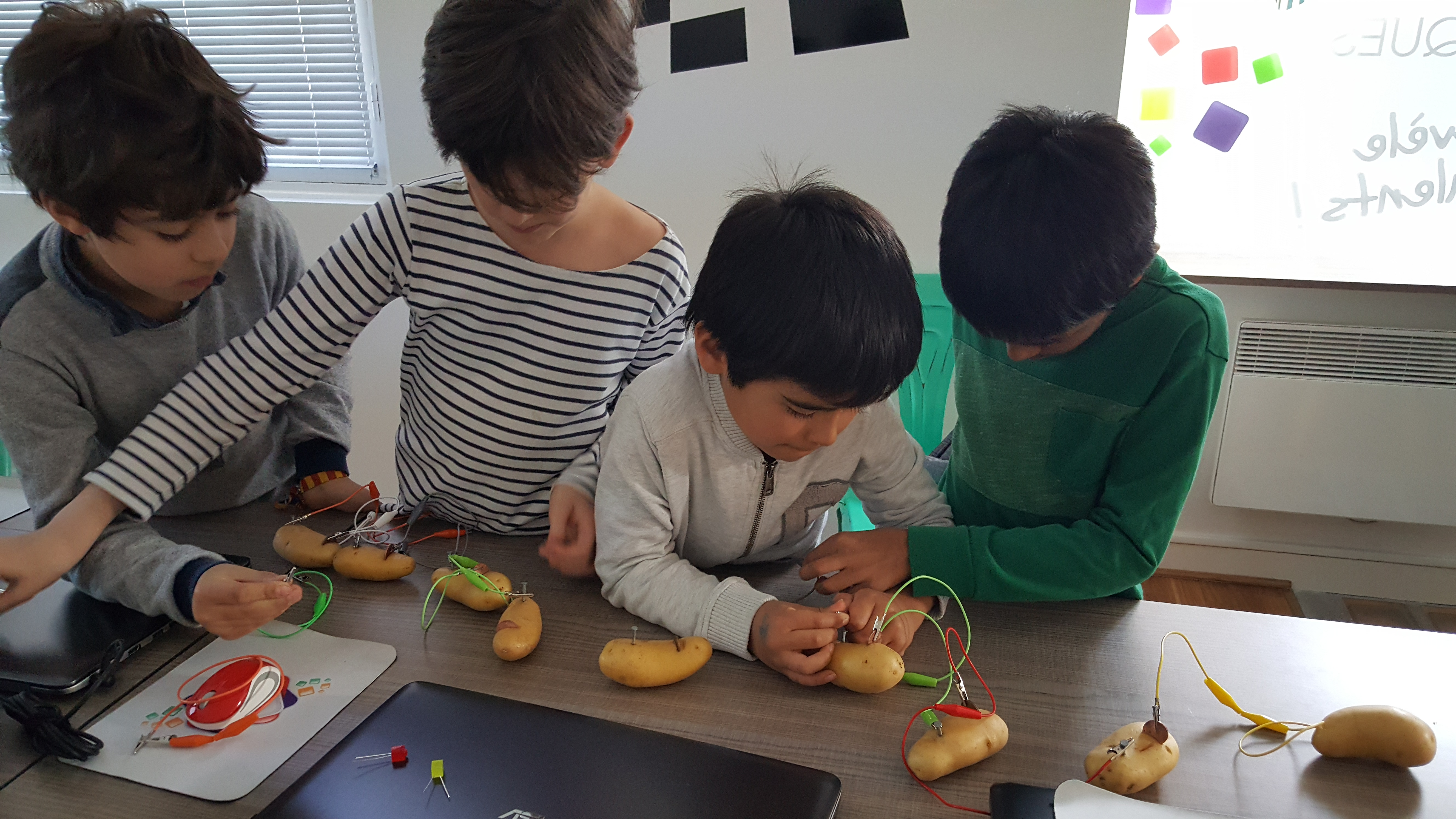 Ateliers hebdos 7-9 ans Electronique patate