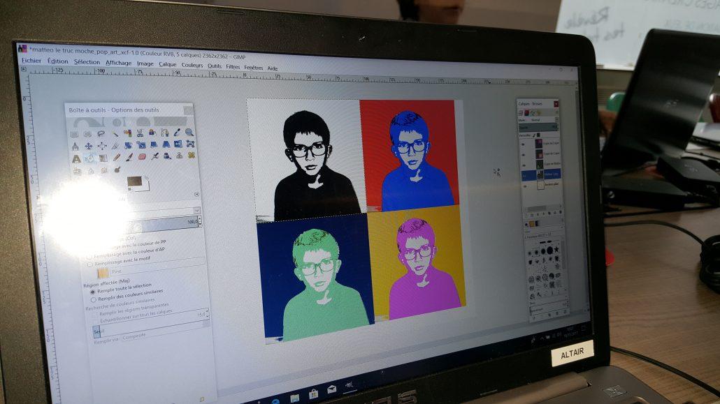 Ateliers hebdos 10-12 - année 2 - Design Gimp