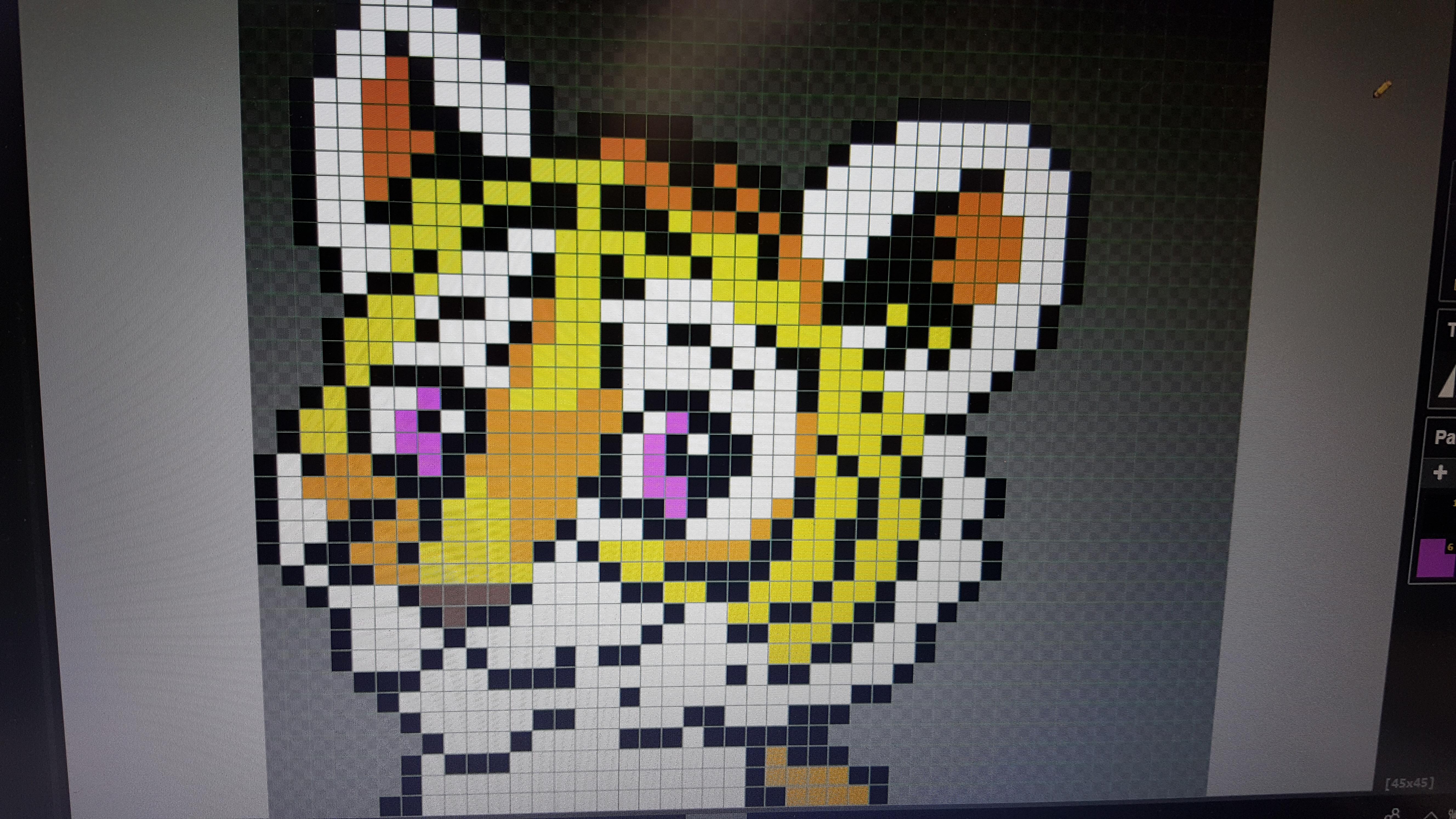Ateliers hebdos 10-12 Tigre pixel art