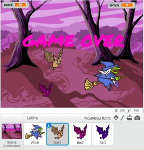 Scratch : jeu de la petite sorcière