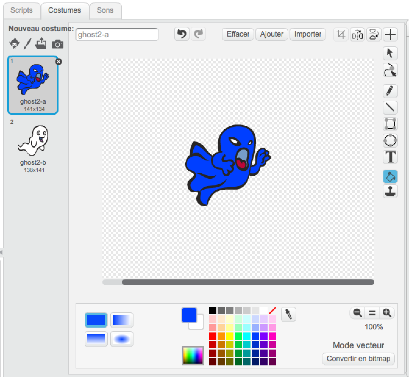 Scratch color your ghost
