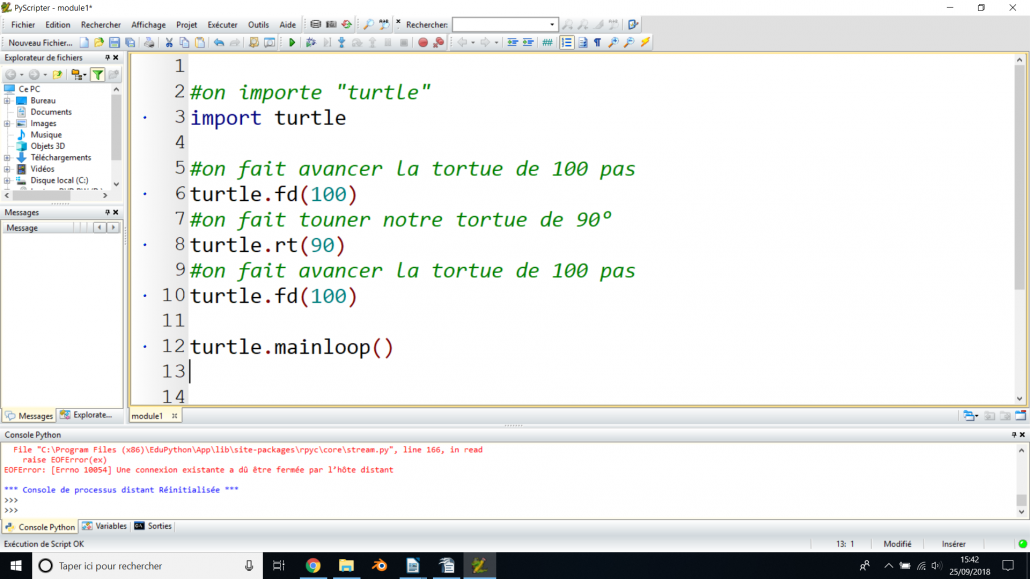 Initiation Python 11-14 ans