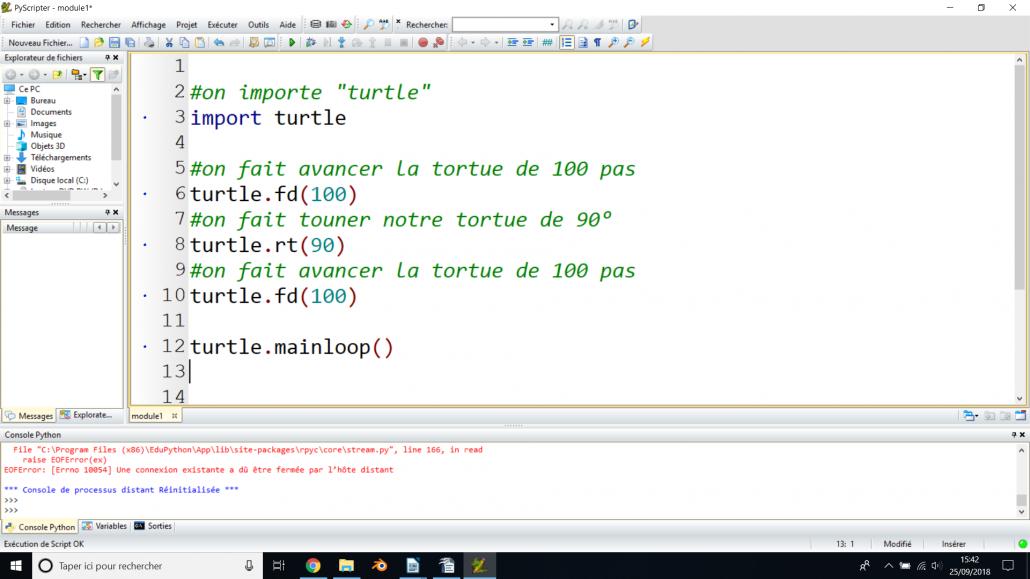 Initiation Python 11-14 ans