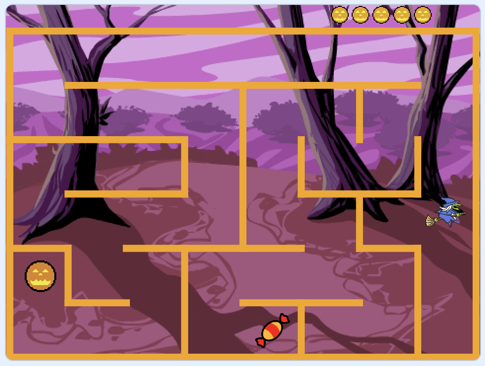 Scratch maze game