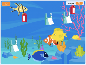 Atelier coding Scratch sauve l'océan